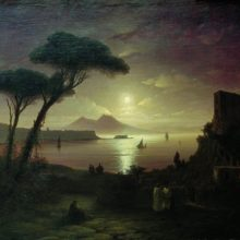 Неаполитанский залив в лунную ночь. 1842 год.