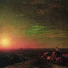 Обоз чумаков. 1862 год.