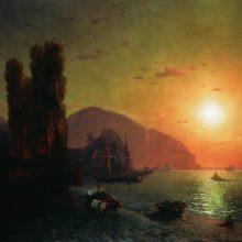 Крымский вид. Аю-Даг. 1865 год.