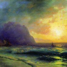 Закат на море. 1853 год.