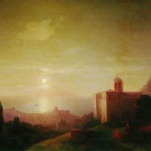 Лунная ночь на берегу моря в Крыму. 1852 год.