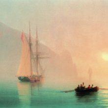 Аю-Даг в туманный день. 1853 год.