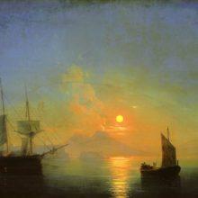 Неаполитанский залив в лунную ночь. 1858 год.