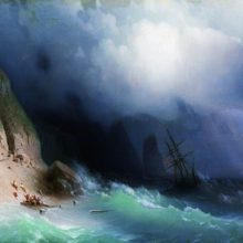 Кораблекрушение у скал. 1870-е год.