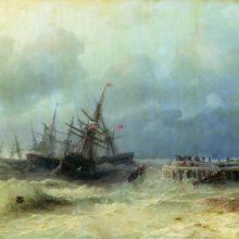 Спасающиеся от бури. 1872 год.