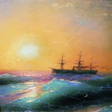 Закат на море. 1886 год.
