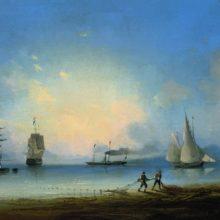 Русский и французские фрегаты. 1858 год.