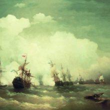 Морское сражение при Ревеле 2 мая 1790 года. 1846 год.