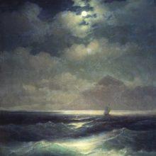 Морской вид при луне. 1878 год.