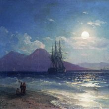 Вид моря ночью. 1873 год.