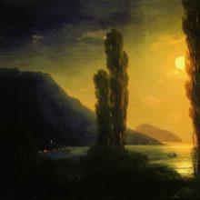 Лунная ночь. Окрестности Ялты. 1863 год.