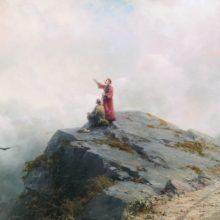 Данте указывает художнику на необыкновенные облака. 1883 год.