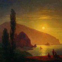 Ночь в Крыму. Вид на Аю-Даг. 1850 год.