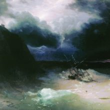 Парусник в бурю. 1886 год.