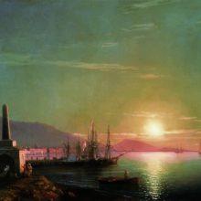 Восход солнца в Феодосии. 1855 год.