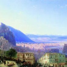 Вид Тифлиса от Сейд-Абаза. 1868 год.