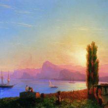 Закат на море. 1856 год.
