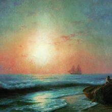 Восход солнца у берегов Ялты. 1878 год.