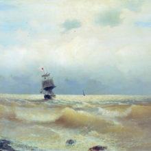 Корабль у берега.