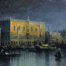 Дворец Дожей в Венеции при луне. 1878 год.