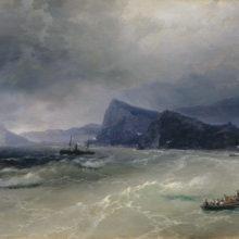 Море. Скалы. 1889 год.