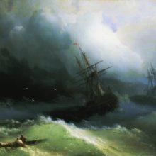 Корабли на бушующем море. 1866 год.