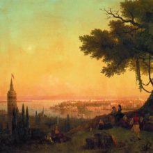 Вид Константинополя при вечернем освещении. 1846 год.