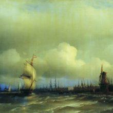 Вид Амстердама. 1854 год.