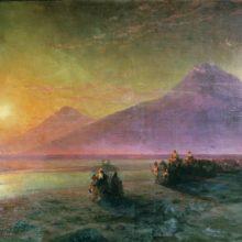 Сошествие Ноя с горы Арарат. 1870-е год.