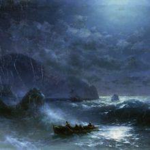 Буря на море ночью. 1895 год.