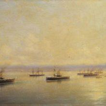 Флот в виду Севастополя. 1890 год.