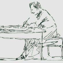 Автопортрет. За письменным столом. 1880-е год.