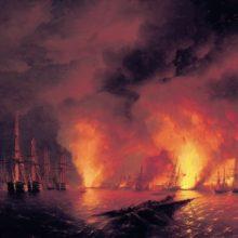 Синопский бой 18 ноября 1853 года (Ночь после боя). 1853 год.