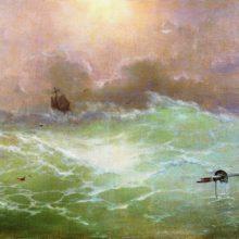 Корабль в бурю. 1896 год.