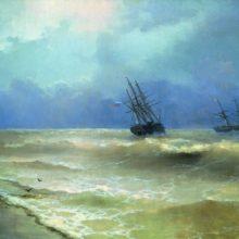 Прибой у крымских берегов. 1892 год.