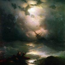 Буря на Северном море. 1865 год.