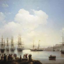 Русская эскадра на Севастопольском рейде. 1846 год.