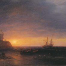 Закат на море. 1878 год.