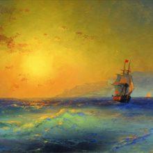 У крымских берегов. 1890-е год.