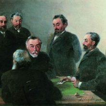 И. К. Айвазовский в кругу друзей. 1893 год.