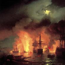 Чесменский бой в ночь с 25 на 26 июня 1770 года. 1848 год.