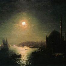 Лунная ночь в Константинополе. 1884 год.