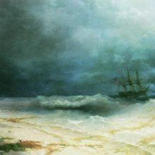 Корабль в бурю. 1895 год.