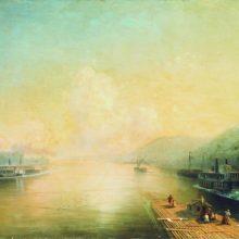 Волга у Жигулевских гор. 1887 год.
