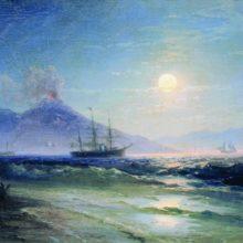 Неаполитанский залив ночью. 1895 год.