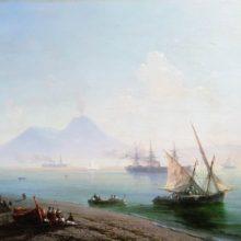 Берег Неаполя. Вид Везувия. 1877 год.