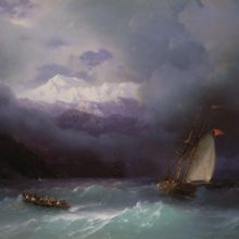 Бурное море. 1868 год.