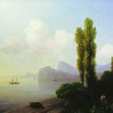 Вид Судакской бухты. 1879 год.