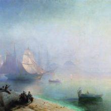 Неаполитанский залив в туманное утро. 1874 год.
