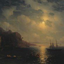 Лунная ночь на Черном море. 1873 год.
